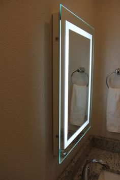 LED Bordered Illuminated Mirror