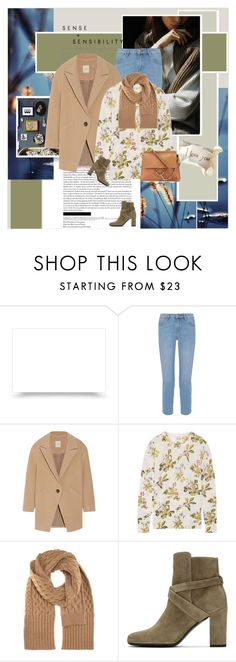 """Sin título #2587"" by liliblue ❤ liked on Polyvore featuring M.i.h Jeans, Mason by Michelle Mason, Equipment, Maison Margiela, Yves Saint Laurent and Chloé"