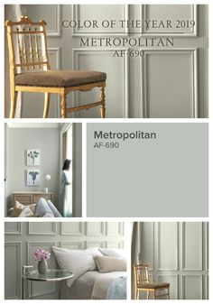 The 2019 Benjamin Moore Color of the Year was just announced and I am so excited about it this year! It& a gorgeous shade of taupe& called Benjamin Moore Metropolitan. Since Benjamin Moore& forecast comes House Colors, Room Colors, Interior Design, Paint Colors For Living Room, Home, Interior, Bedroom Paint, Room Paint Colors, Room Paint