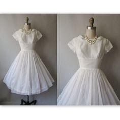50's white dress vintage