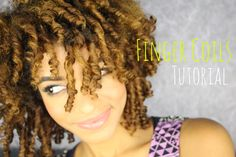 Finger Coils on Natural Hair ♥
