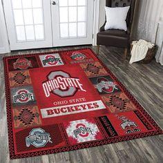 Living Room Area Rugs, Living Room Carpet, Room Rugs, Living Room Decor, Ohio State Buckeyes, Carpet Flooring, Floor Decor, Home Decor Bedroom, Vivid Colors