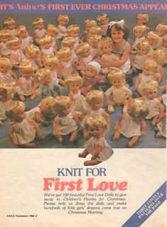 Value Christmas Appeal in Value, November the appeal was to dress 100 donated dolls to provide a doll and outfit as a Christmas gift. Christmas Morning, Christmas Gifts, Doll Outfits, Vintage Dolls, Baby Dolls, Print Patterns, Doll Clothes, First Love, Little Girls