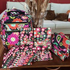 Ziggy zinnia, vera bradley, matching notebooks, matching backpack