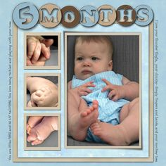 MONTH--I think this is pretty cool. I need to remember to get pictures of hands and feet.