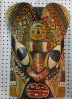 Peruanische Folklore Tanz Maske aus den Anden. Eine original Maske aus den Anden, wie diese für den peruanischen Karneval, Umzüge sowie Folklore Tänze  traditionel verwendet wird.