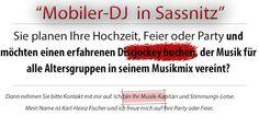 DJ Sassnitz - DJ Fischer Spezial: DJ Fischer Spezial in Sassnitz für Hochzeit auf Rü...