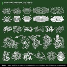 한국 전통 문양 ai - Google 검색 Korean Design, Asian Design, Chinese Design, Korean Art, Asian Art, Korean Tattoos, Chinese Patterns, Oriental Pattern, Textile Patterns