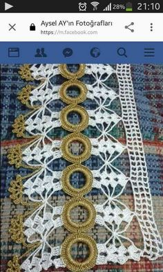 This post was discovered by Yeliz Işık. Discover (and save!) your own Posts on Unirazi. Crochet Borders, Crochet Diagram, Filet Crochet, Irish Crochet, Crochet Patterns, Crochet Curtains, Crochet Tablecloth, Crochet Doilies, Crochet Lace