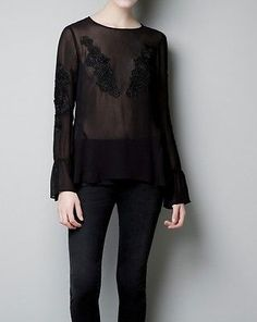Zara-black-embroidered-applique-top-as-seen-on-Olivia-Palermo