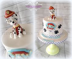 Well the little boy celebrating his birthday certainly does as he requested Marshall on his cake Paw Patrol Birthday Cake, Paw Patrol Cake, 3rd Birthday Parties, 2nd Birthday, Pb 2, Cumple Paw Patrol, Celebration Cakes, Yummy Cakes, No Bake Cake