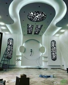 Choose from the largest collection of Latest False Ceiling Design & Decorating Ideas to add style. Discover best False Ceiling inspiration photos for remodel & renovate, here. Drawing Room Ceiling Design, Plaster Ceiling Design, House Ceiling Design, Ceiling Design Living Room, Bedroom False Ceiling Design, False Ceiling Living Room, Tv Wall Design, Wall Unit Designs, Plafond Design