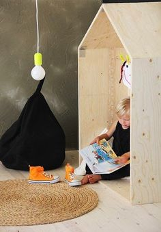 Make a plywood play house for your kid's room Kids Corner, Kids Furniture, Simple Furniture, Playroom Furniture, Modern Furniture, Furniture Design, Kidsroom, Kid Spaces, Kids Decor