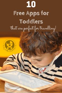 Keeping a toddler engaged for more than half an hour is a challenge! Make it easier with these 10 free entertaining apps for toddlers - perfect for travel!