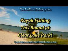 Kayak Fishing This Round at Clear Lake Park! #kayakfishing - Stocker Trout Fishing