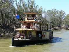 paddle steamer at Echuca on the Murray River