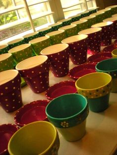 Flower Pots Hand Painted and Personalized