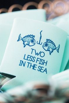 cute fish koozie beach wedding favor ideas