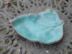 Pottery Coleus Leaf plate by NancyBloklandPottery on Etsy, $8.00