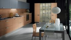Sleek Modern Kitchen Looks Like A Posh Contemporary Office!