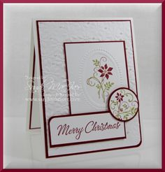 Merry Monday Christmas card, details here for you:  http://stampingwithsandi.com/merry-monday-and-gifts-of-christmas-stamp-set-from-stampin-up/