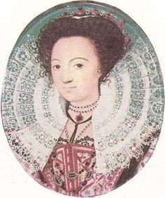 Miniature Portrait of an Unknown Lady. By Nicholas Hilliard, 1590.