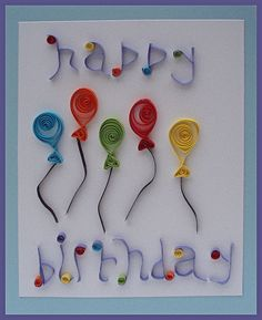 Handmade birthday card | Handmade birthday card made from qu… | Flickr