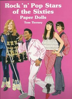 Rock 'n' Pop Stars of the Sixties Paper Dolls by Tom Tierney Paperback) for sale online Rock N, Rock And Roll, Best Fashion Books, Sly Stone, Male To Female Transformation, Joan Baez, Paper Dolls Book, Roy Orbison, Famous Singers