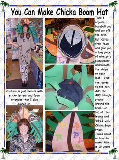 make a chicka boom hat and costume Fall Preschool, Preschool Ideas, Book Week, Elementary Education, Book Characters, Baseball Cap, Kindergarten, Stripes, Mixed Nuts