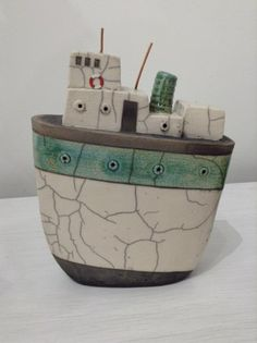 Large Tug by Goodwin-Jones Ceramics