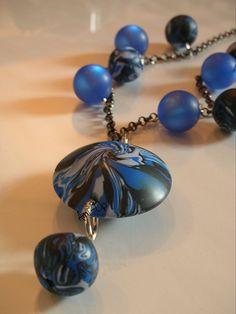 VORTIX :  fatto a mano in argilla polimerica (FIMO) - hand made polymer clay necklace