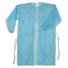 Disposable Blue Isolation Gown Size: Universal Qty: 50 per Case: Gowns are 30 gram and fluid resistant to light liquid-splash. Full length with tie back and elastic wrist Welding Technology, Medical Uniforms, Mask Online, Masks For Sale, Gowns Online, Shirt Dress, Coat, Stuff To Buy, Clothes