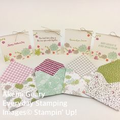 #スタンピンアップ #everydaystamping #stampinup #stampinupjapan #akemigeary #桑名市 #papercraft #minicards