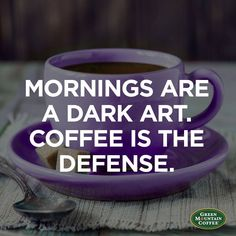 Mornings are a dark art. Coffee is the defense. We think today calls for a warm cup of Green Mountain Coffee Dark Magic Coffee. Cheers!