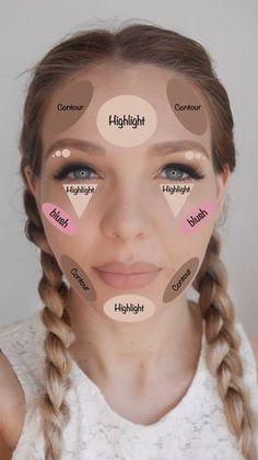 Aprenda como fazer maquiagem contorno.