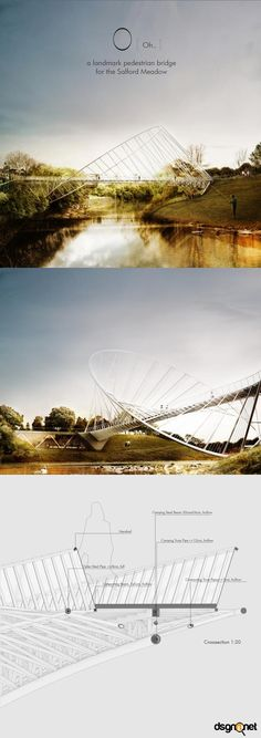 the O - proposal for a pedestrian bridge in Salford