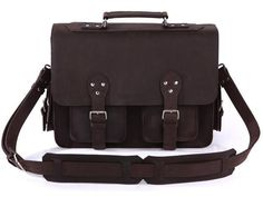 Handcrafted Genuine Leather Briefcase Business Bag Selvaggio - Serbags  - 3