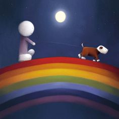 Over the Rainbow - Paper Edition by Doug Hyde Rainbow Baby, Over The Rainbow, Cute Images, Pretty Pictures, Rainbow Paper, Baby Drawing, Good Night Moon, Drawing Practice, Mermaid Art