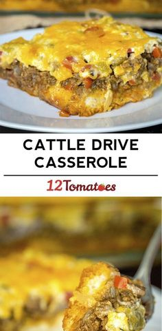 Cheesy Cattle Drive Casserole (use Fathead Crust or something else Low Carb instead of biscuit mix)