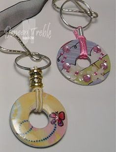 washers for pendants and keychains