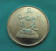 1967 Mobile AL Aluminum Doubloon OOM Order Of Myths Mardi Gras 100th Anniversary