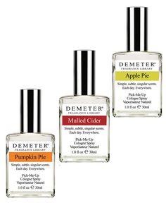 Demeter Fragrances (Pumpkin Pie, Mulled Cider, and Apple Pie, $20 each at demeterfragrance.com) #InStyle