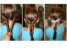 Resultado de imagen para peinados faciles para niña con coletas