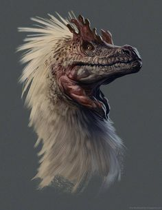Creature Spot - The Spot for Creature Art, Artists and Fans / animaux / dinosaure / plumage / théropode Real Dinosaur, Dinosaur Art, Raptor Dinosaur, Creature Concept Art, Creature Design, Magical Creatures, Fantasy Creatures, Feathered Dinosaurs, Illustration Photo