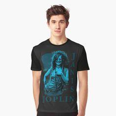 Janis Joplin, Music, Pattern, Mens Tops, T Shirt, Blue, Design, Fashion, Musica