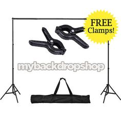 Telón de fondo de fotografía soporte con abrazaderas gratis