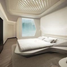 zaha hadid reveals interiors for me dubai hotel | innenarchitektur, Innenarchitektur ideen
