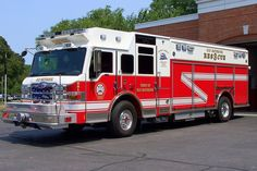 Old Saybrook's Rescue 3-9-1, a 2008 Pierce Velocity rescue truck.