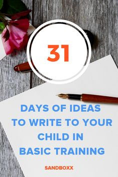 Need some letter writing inspiration? Check out our 31 Days of Ideas To Write To Your Child In Basic Training!