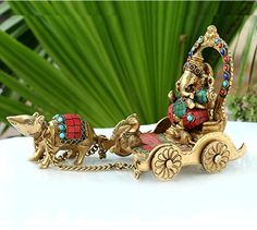 Collectible India God Ganesh Statue Brass Sculpture Lord Ganesha Sitting on Chariot and Mouse- Decor Gift Ganesh Chaturthi Images, Happy Ganesh Chaturthi, Ganesha Pictures, Ganesh Images, Ganesh Lord, Shri Ganesh, Whatsapp Dp, Baby Ganesha, Ganesha Tattoo